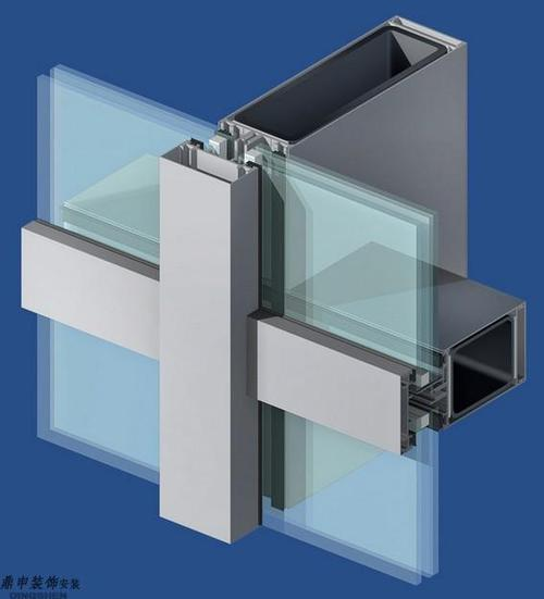 hidden frame supported glass curtain wall